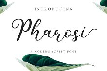 Pharosi Modern Script Font  by Yudha Ageng in Script Fonts