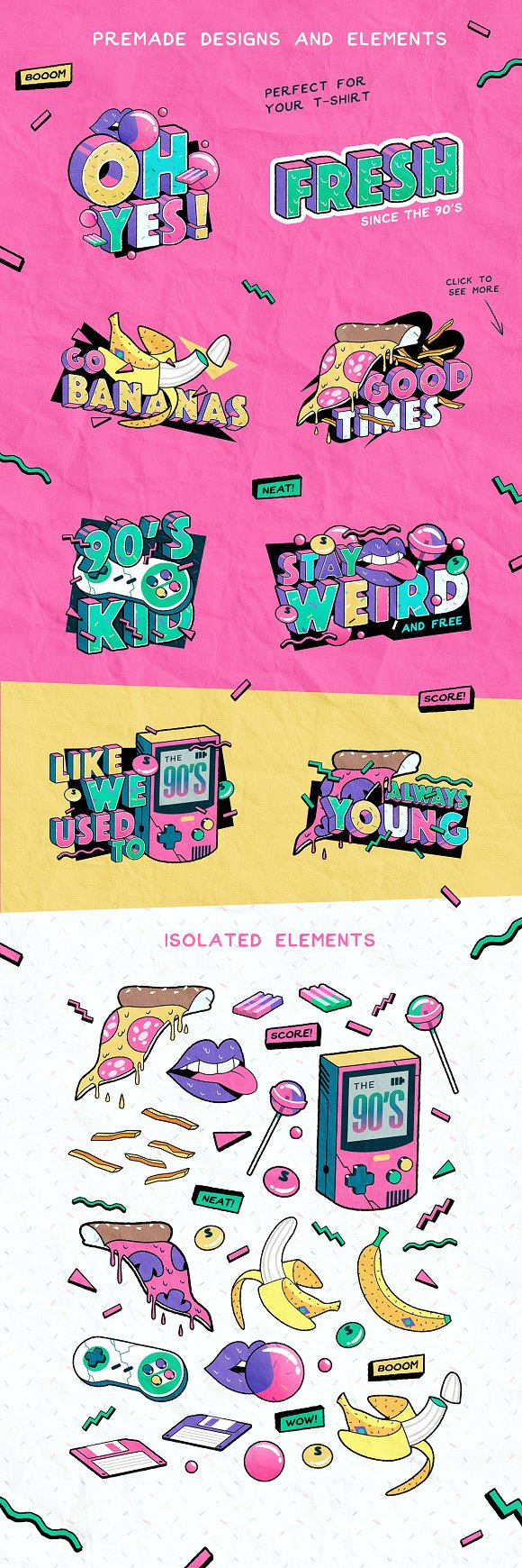 Totally Rad Bundle in Graphics - product preview 6