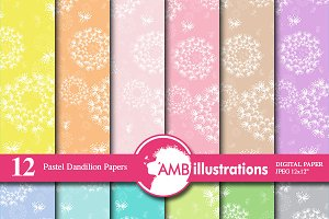 Pastel Dandelion Papers AMB-846