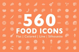 560 Food Icons