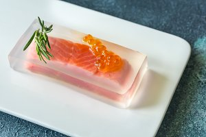 Red fish in aspic