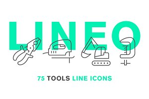 LINEO - 75 TOOLS LINE ICONS