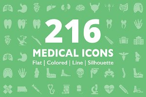 216 Medical Icons