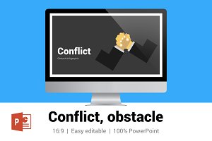 Conflict, obstacle infographic