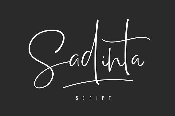Script Fonts: COB - Sadinta Script