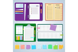 Set of agenda notebooks