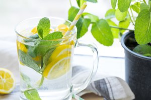 Vitamin infused lemon water