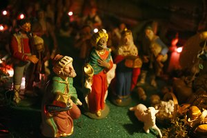 Christmas nativity scene. Epiphany