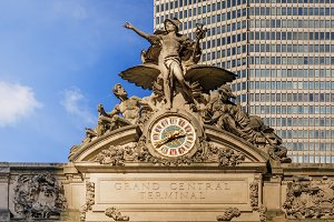 Grand Central Terminal clock in NY