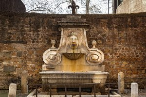 Ancient fountain in Rome