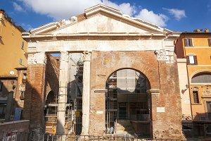 Ancient Porticus of Octavia in Rome