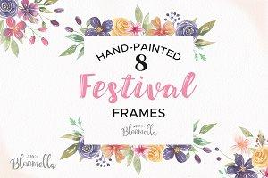 Festival Frames Floral Clipart Set