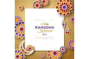 Ramadan Kareem square frame