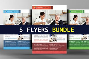 5 Senior Care Flyers Bundle