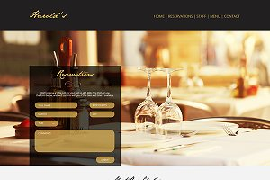 Elegant Restaurant One Page PSD