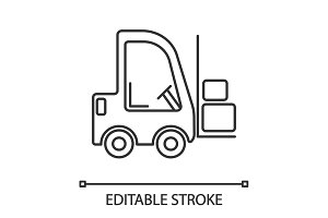 Forklift linear icon