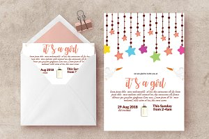 Baby Shower Announcement Invite Card