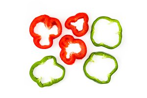 Slices of bell pepper