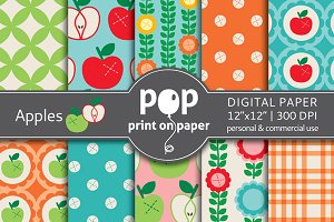Apples - 10 digital papers