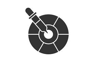 Color picker tool glyph icon