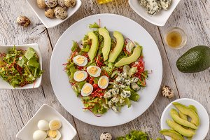 Fresh salad with avocado