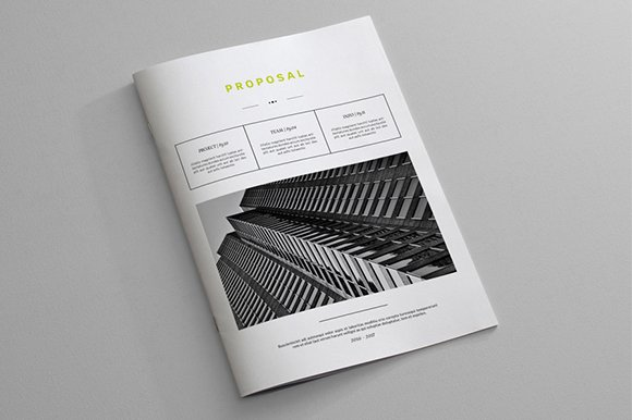 indesign business proposal template brochure templates creative market