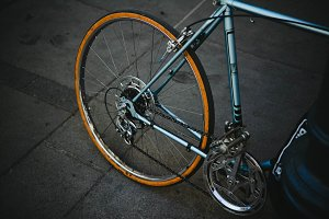 Stylish Hipster Bicycle on Street