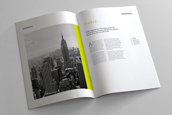 Indesign Business Proposal Template Brochure Templates - Business plan template indesign