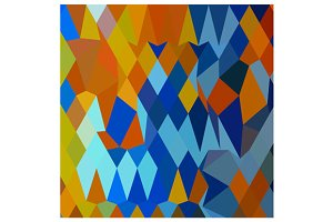 Cerulean Blue Harvest Gold Abstract
