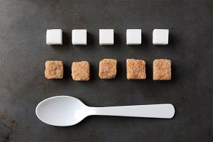 Sugar Cubes Spoon Baking Sheet
