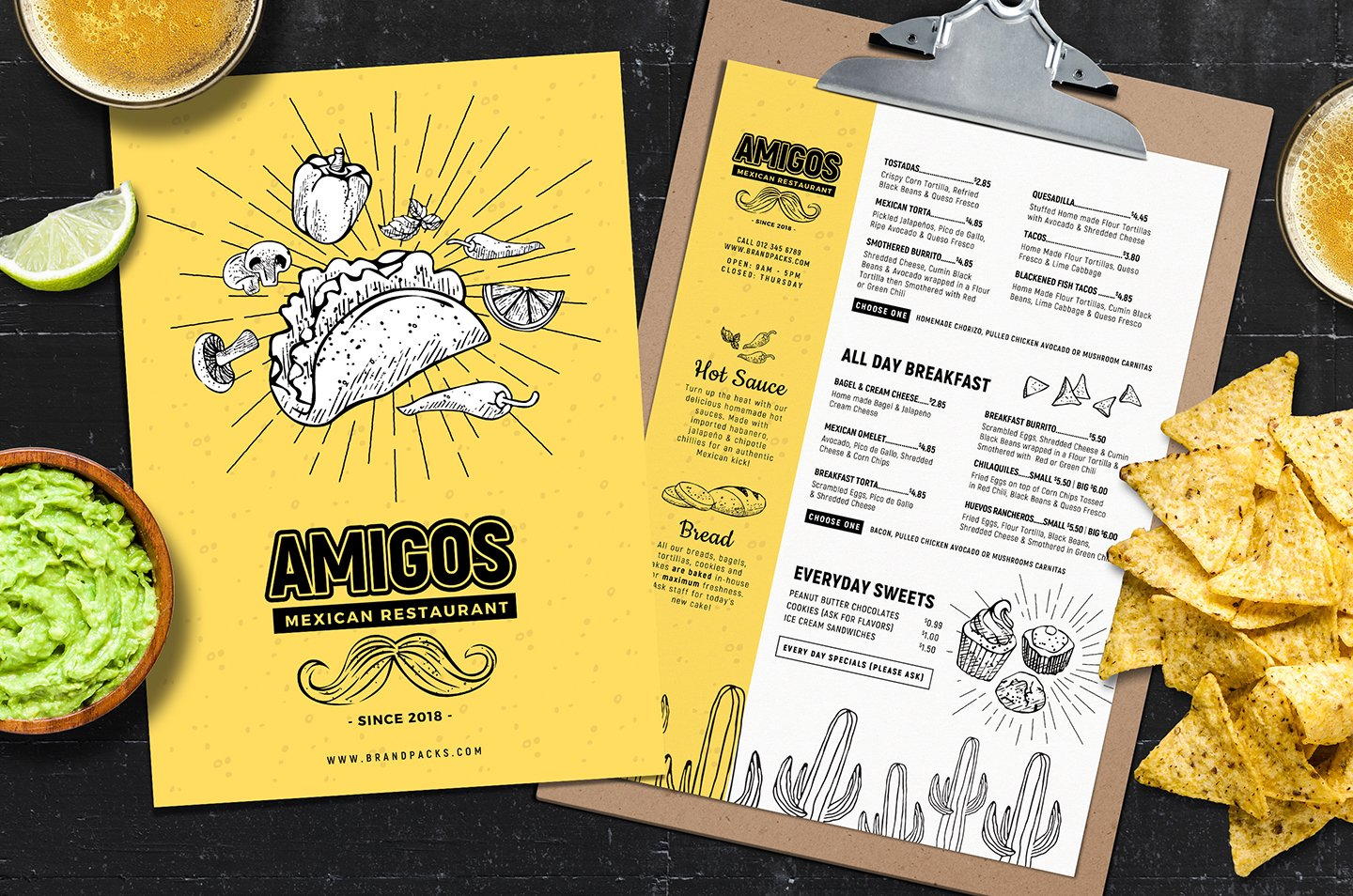 Mexican Menu Template Flyer Templates Creative Market