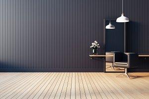 Modern & living salon interior / 3D