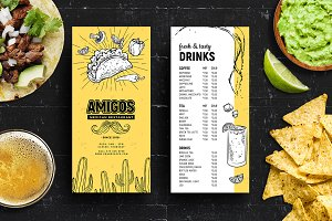 DL Mexican Menu / Rack Card Template