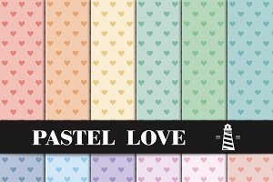 Pastel Heart Patterns