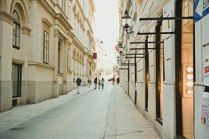 Beautiful Narrow Street in old City