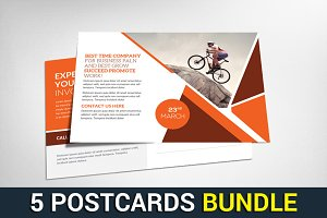 5 Senior Care Postcards Bundle