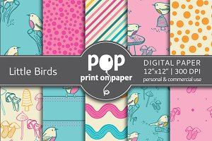 Little Birds - 10 digital papers