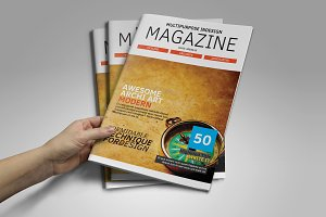 50 Pgs Indesign Magazine Template