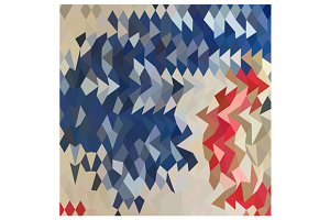 Spanish Blue Abstract Low Polygon Ba