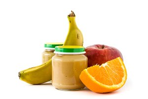 Fruit puree jars