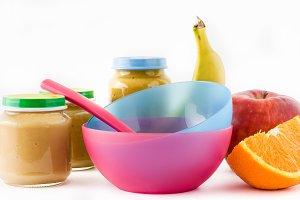 Fruit puree jars
