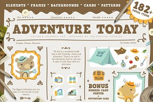 Adventure Today + summer camp poster