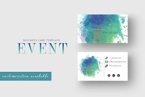 Business Card Template Event Planner