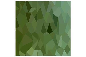 Tea Green Abstract Low Polygon Backg