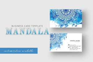 Business Card Template Mandala