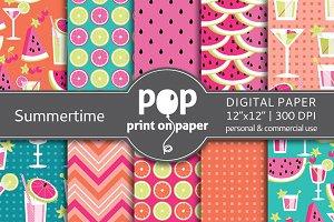 Summertime - 10 digital papers