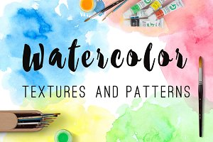 Watercolor Blots and Patterns
