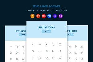 500 Premium Vector Line Icons