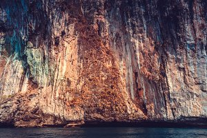 The limestone cliffs. Phi Phi Islands, Thailand.