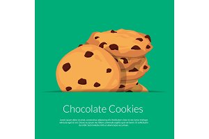 Vector chocolate cookies illustration